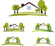 Casa e jardim Fotografia de Stock