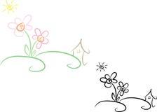 Casa e jardim no verão (ii) Imagem de Stock Royalty Free