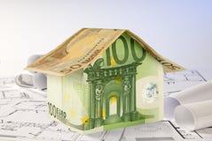 Casa e modelos do Euro Imagem de Stock