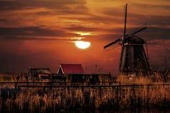 Casa e o gigante dos Países Baixos Fotografia de Stock Royalty Free