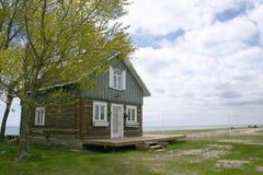 Casa e praia foto de stock royalty free