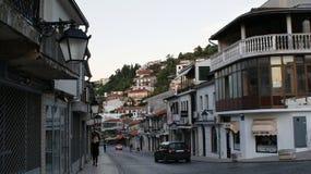 Casa e rua em Kosovo foto de stock royalty free