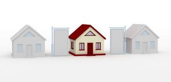 Casa e tabellone per le affissioni Fotografie Stock