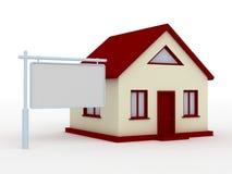 Casa e tabellone per le affissioni Fotografia Stock Libera da Diritti