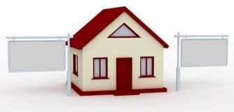 Casa e tabellone per le affissioni Immagini Stock