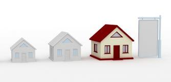 Casa e tabellone per le affissioni Fotografie Stock Libere da Diritti