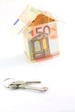 Casa e tasti dei soldi Fotografie Stock