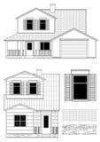 Casa e texturas do subúrbio Imagem de Stock Royalty Free