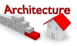 Casa e tijolo Imagem de Stock