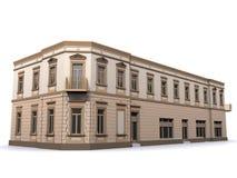 Casa ecléctica de la esquina del edificio stock de ilustración