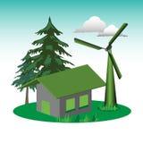 Casa ecológica Imagens de Stock Royalty Free