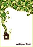 Casa ecológica. Fondo del vector. stock de ilustración