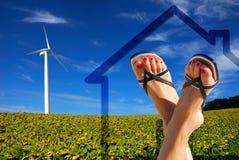 Casa ecologica verde Immagine Stock