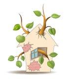Casa ed albero Immagini Stock Libere da Diritti