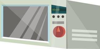 Casa elétrica da micro-ondas no vetor Imagem de Stock Royalty Free