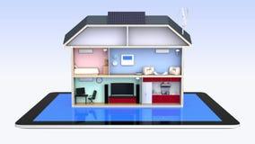 Casa elegante con los dispositivos económicos de energía stock de ilustración
