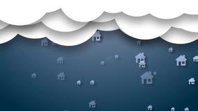 Casa elegante Gestión del hogar elegante de la nube de la información ilustración del vector