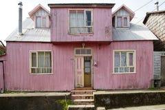 Casa em Ancud, ilha de Chiloe, o Chile imagens de stock royalty free