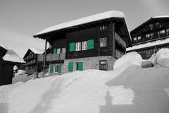 Casa em Bettmeralp Foto de Stock Royalty Free