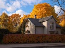 Casa em cores do outono Foto de Stock