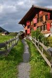 Casa em Gimmelwald fotografia de stock royalty free