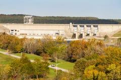 Casa em Grandview, Missouri da exploração agrícola de Harry S Truman Dam no outono Fotos de Stock