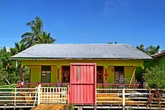 Casa em Pulau Ketam (ilha) do caranguejo, Malásia Foto de Stock