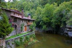 Casa em Rupit, Catalonia Foto de Stock Royalty Free