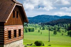 Casa em Sumava, República Checa Imagem de Stock
