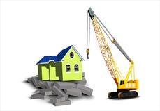 Casa em tijolos Fotografia de Stock