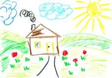 Casa. Embroma arte. Imagen de archivo libre de regalías