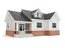 Casa en blanco Concepto 6 de las propiedades inmobiliarias libre illustration