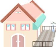 Casa en colores pastel Imagen de archivo