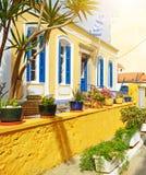 Casa en Crete Agios Nicolás fotografía de archivo libre de regalías