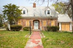 Casa en ejecución de una hipoteca Fotos de archivo