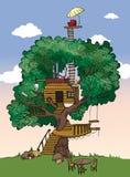 Casa en el árbol stock de ilustración