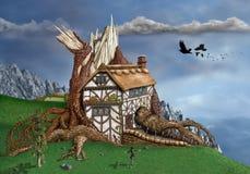Casa en el árbol de la fantasía Fotografía de archivo