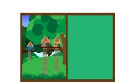 Casa en el árbol Casa en el árbol para los niños ilustración del vector