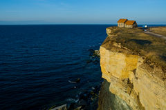 Casa en el borde de un acantilado Imagen de archivo