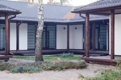 Casa en el bosque Fotografía de archivo