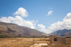Casa en el campo de Macari, Sicilia Fotografía de archivo