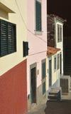 Casa en el clifftop, Camara de Lobos, Madeira, Portugal Imagen de archivo libre de regalías