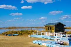 Casa en el lago Foto de archivo
