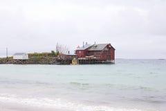 Casa en el mar Fotos de archivo