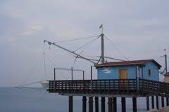 Casa en el mar en Fano - Italia Imagen de archivo