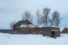 Casa en el pueblo Foto de archivo