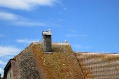 Casa en el pueblo medieval de Nernier, Haute-Saboya Francia Foto de archivo libre de regalías