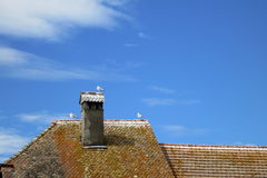 Casa en el pueblo medieval de Nernier, Haute-Saboya Francia Imagen de archivo