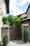 Casa en el pueblo medieval de Nernier, Haute-Saboya Francia Fotos de archivo libres de regalías