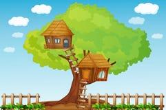 Casa en el árbol Imágenes de archivo libres de regalías
